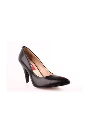 Dgn 199 Kadın Siyah Sivri Burun 11 Pont Topuklu Ayakkabı 20y 2
