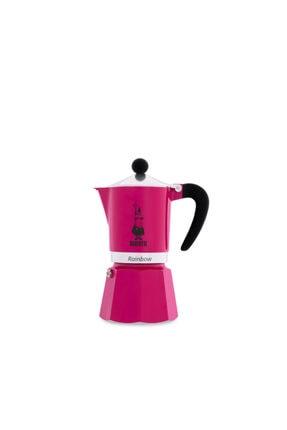 Mare Mosso Caffe ê Vendite Bıalettı Moka Pot Raınbow Fucshıa - Fuşya 6 Cup + 3 X 100 Gr Espresso Hediye 2