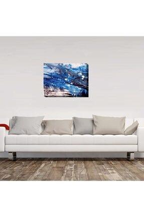 Mavi Fırça Darbeleri Sanatsal tablo 20x30 YTABLO000038
