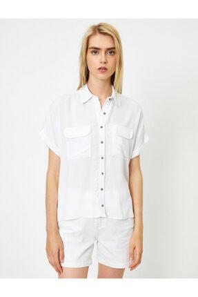 Koton Kadın Beyaz Gömlek 0YAL68621OW 2