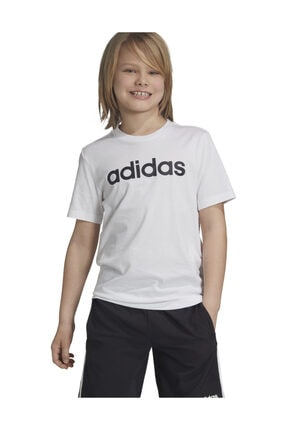 adidas YB E LIN TEE Beyaz Erkek Çocuk T-Shirt 101069004 0