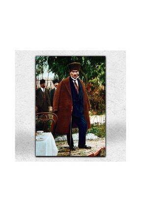 İyi Olsun Kalpaklı Atatürk Portresi Kanvas Tablo 60 X 90 Cm 0
