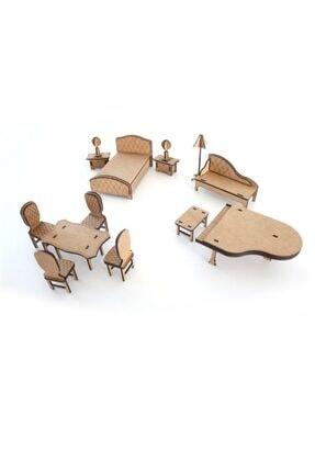 3D SERGİ 3d Ahşap Puzzle Ev Eşyaları Set 3  65 Parça 1