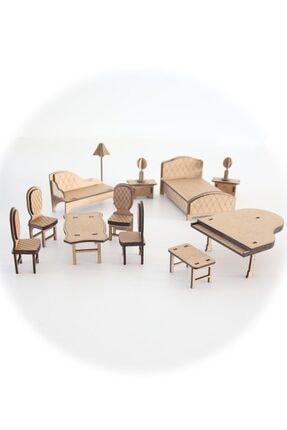 3D SERGİ 3d Ahşap Puzzle Ev Eşyaları Set 3  65 Parça 3