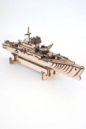 3D SERGİ 3d Ahşap Puzzle Savaş Gemisi 123 Parça 1