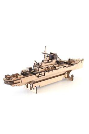 3D SERGİ 3d Ahşap Puzzle Savaş Gemisi 123 Parça 3