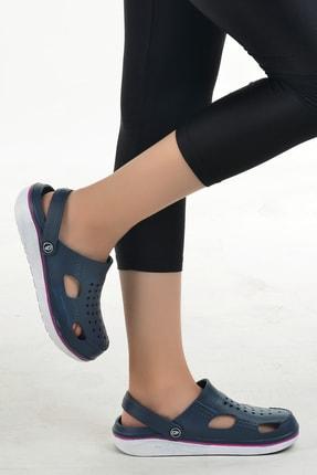 Gezer Kadın Lacvert Hastane Ortopedik Sandalet Terlik 12493 1
