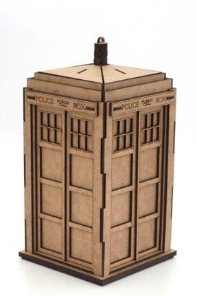 3D SERGİ 3d Ahşap Puzzle Dr. Who Tardis 53 Parça 1