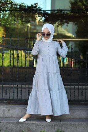 EKABE Kadın Mavi Tesettür Elbise 1