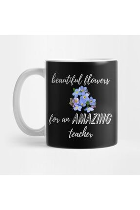 TatFast Beautiful Flowers For An Amazing Teacher - Forget Me Not Kupa 0