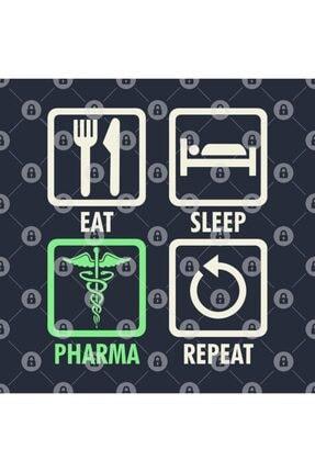 TatFast Eat Sleep Pharma Repeat   Cool And Funny Pharmacy Kupa 2