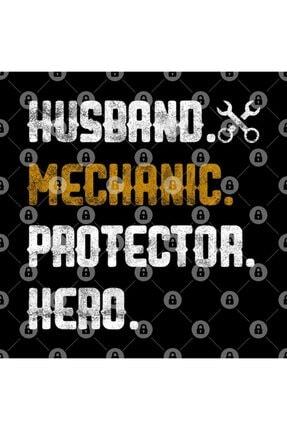 TatFast Mens Husband Mechanic Protector Hero Garage Handyman Father's Day Kupa 2