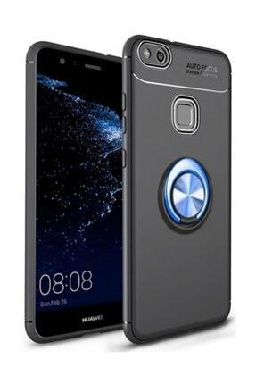 Kilifplus Huawei P10 Lite Kılıf Auto Focus Serisi Standlı Yüzüklü Kapak - Mavi - Siyah 0