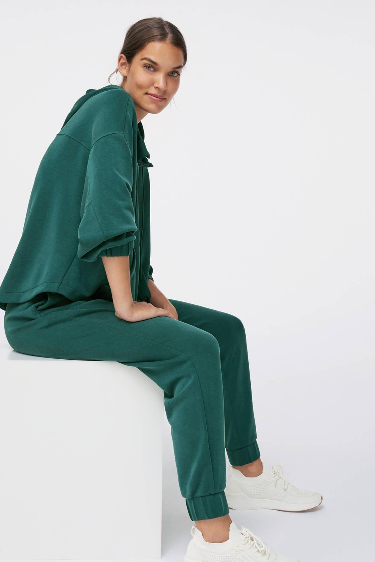 Oysho Kadın Yeşili Önü Büyük Cepli Yumuşak Dokulu Sweatshirt 1