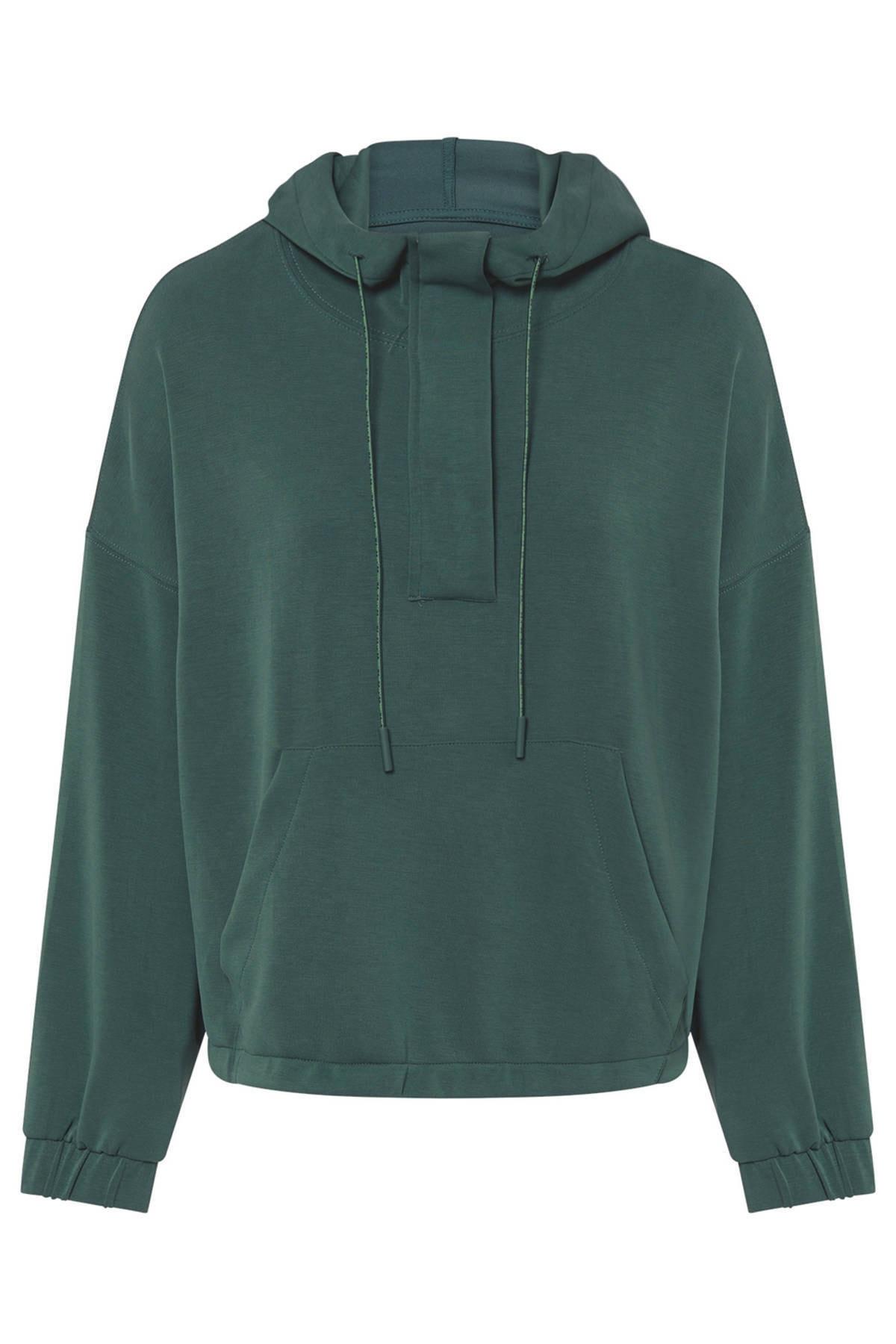 Oysho Kadın Yeşili Önü Büyük Cepli Yumuşak Dokulu Sweatshirt 3