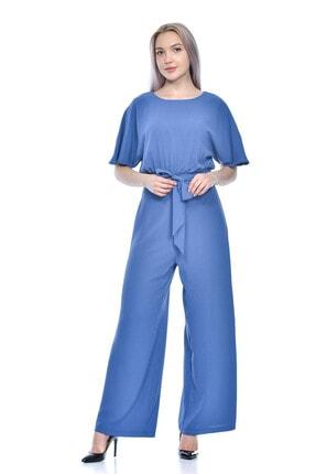 Kadın Bel Bağcıklı Tulum Elbise 9710