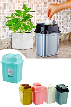 Helen's Home Tezgah Üstü Çift Kapaklı Çöp Kovası 0