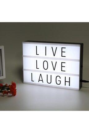 DizaynHediye Lightbox A4 Led Işık Işıklı Mesaj Panosu 96 Harf Light Box Pano 4