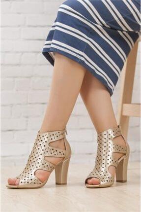 Kadın Altın Topuklu Ayakkabı NCL1295