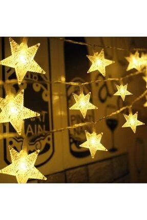 GLR Yıldız Led Dize 3 Mt. Sarı Işık (gün Işığı) Dekoratif Led Aydınlatma Pilli Led 4