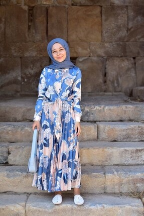Loreen Kadın Mavi Etekli Takım 3