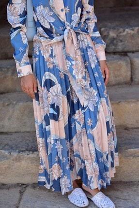 Loreen Kadın Mavi Etekli Takım 4