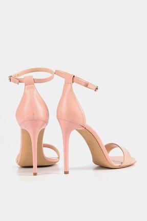 Hotiç Hakiki Deri Pudra Kadın Topuklu Sandalet 3