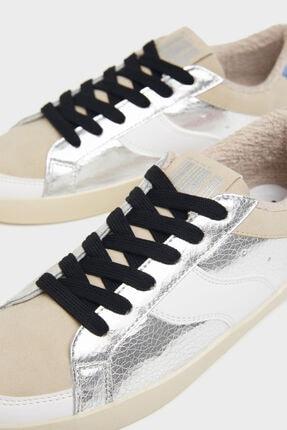 Bershka Kadın Metalik Detaylı Kontrast Spor Ayakkabı 3