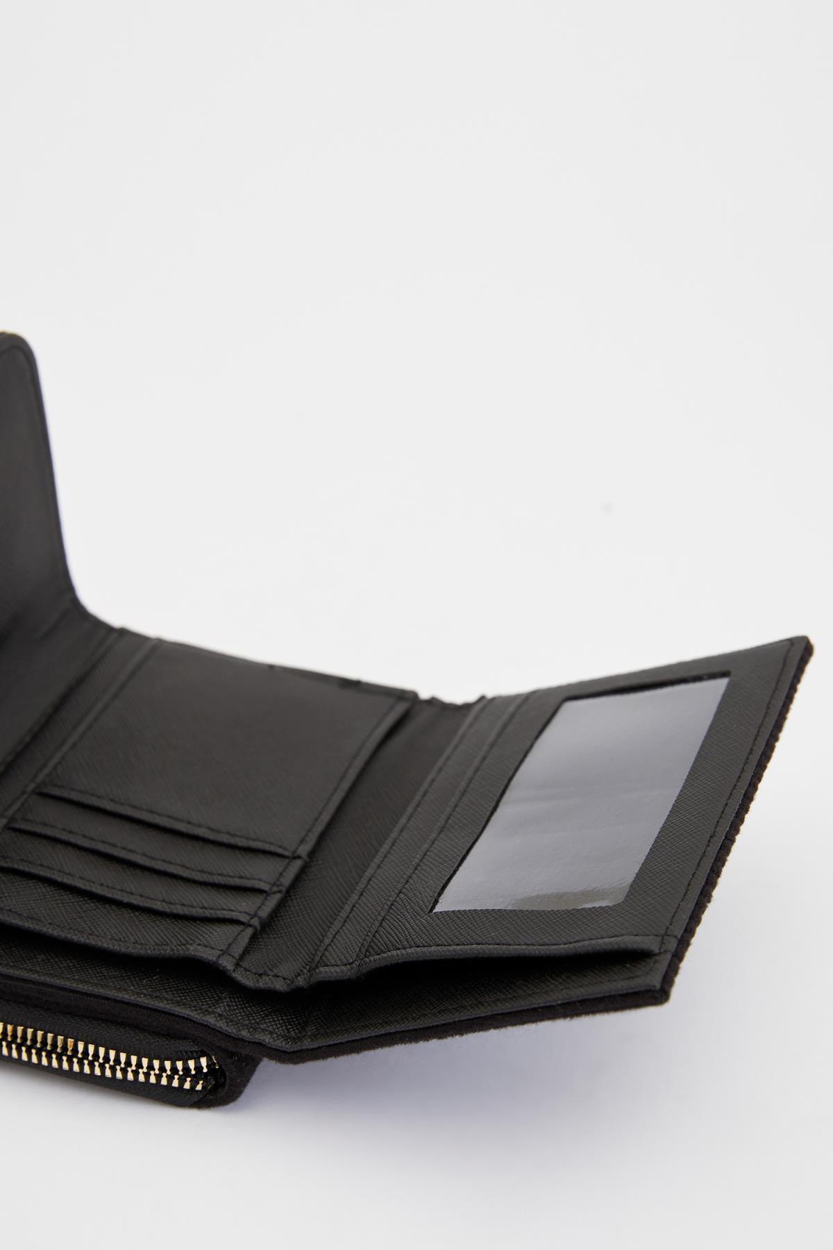 Defacto Kadın Siyah Kadife Cüzdan S3420AZ20WN 1