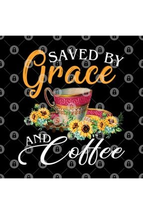 TatFast Christian Coffee Lover Funny Gift Saved By Grace And Coffee Kupa 2