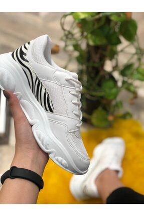 Mika Kadın Beyaz Desenli Spor Ayakkabı 1
