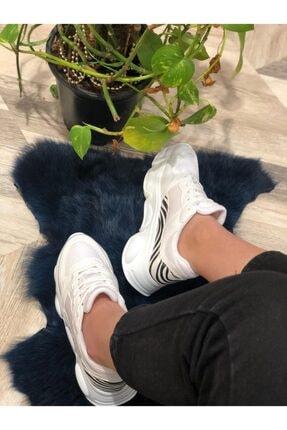 Mika Kadın Beyaz Desenli Spor Ayakkabı 2
