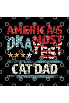 TatFast Americas Most Okayest Cat Dad Worlds Funniest Saying Gifts Kupa 2