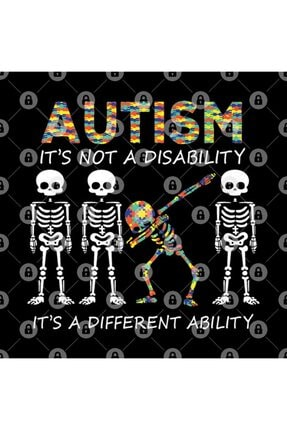 TatFast Autism Its A Different Ability Funny Dabbing Skeleton Gift Premium Kupa 2