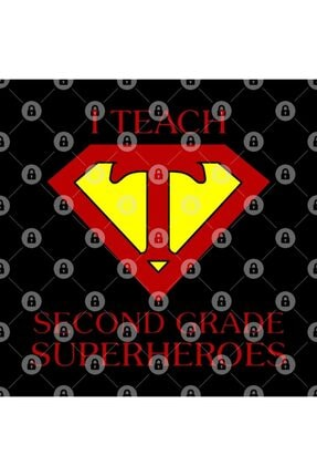 TatFast Funny Teacher I Teach Second Grade Superheroes Gifts Kupa 2