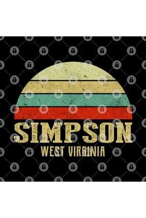 TatFast Sımpson, West Vırgınıa Vintage Retro Sunset Kupa 2