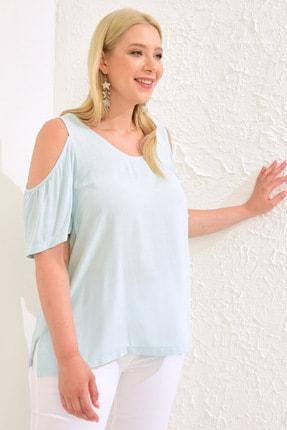 LC Waikiki Kadın Açık Mavi Bluz 0WCD75Z8 0