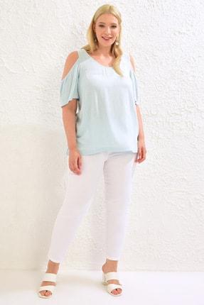LC Waikiki Kadın Açık Mavi Bluz 0WCD75Z8 2