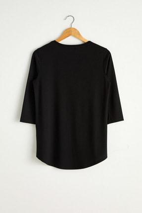 LC Waikiki Kadın Yeni Siyah Tişört 0WAG67Z8 0