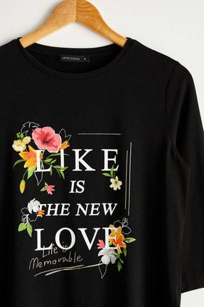 LC Waikiki Kadın Yeni Siyah Tişört 0WAG67Z8 1