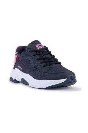 Jump Kadın Lacivert Pembe Spor Ayakkabı 24711 1