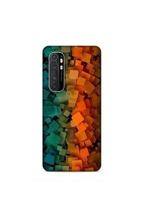 Pickcase Xiaomi Mi Note 10 Lite Kılıf Desenli Arka Kapak Oreange Ve Green 0