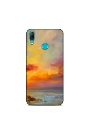 Pickcase Huawei Y7 Prime 2019 Kılıf Desenli Arka Kapak Gün Batımı 0