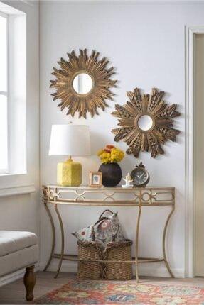 Warm Design Antik Altın Ayna 2