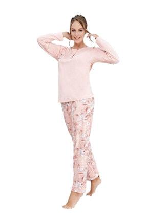 Çelebi Kadın Pudra Kışlık Pijama Takım 643 0