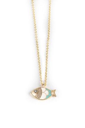 Jineps Balık Motifli Ince Zincir Kolye Altın Renk 50 Cm Altın Kaplama 1