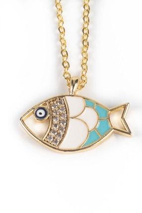 Jineps Balık Motifli Ince Zincir Kolye Altın Renk 50 Cm Altın Kaplama 2
