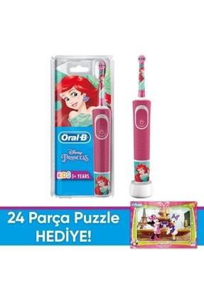 Oral-B D100 Çocuklar Için Şarj Edilebilir Diş Fırçası Princess+puzzle 2