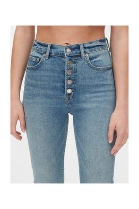 GAP Kadın Mavi High Rise Cigarette Jean Pantolon 3