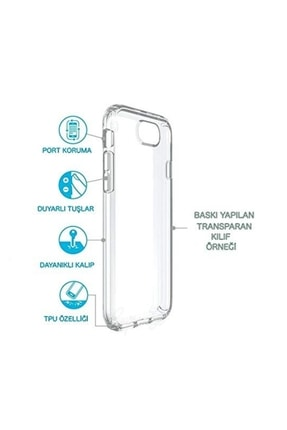 cupcase Huawei Y8p Kılıf Resim Esnek Silikon Kapak I Love U Desen + Temperli Cam 1